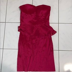 Max and Cleo Pink Strapless Dress